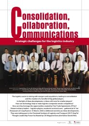 Strategic challenges for the logistics industry - CILT Singapore