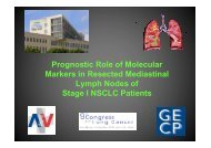 rognostic role of molecular markers in mediastinal nodes of
