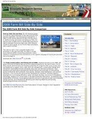 2008 Farm Bill Side-By-Side - South Dakota Agri-Business Association
