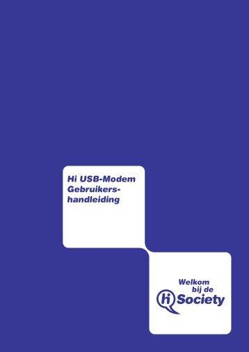 Hi USB-Modem Gebruikers- handleiding - Gsmweb.nl