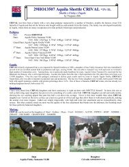 sire report - Genus UK website