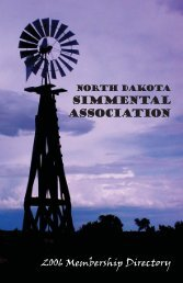 ND Directory 2006.indd - North Dakota Simmental Association