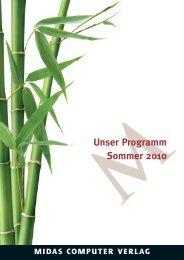 MUnser Programm Sommer 2010 - Midas Verlag AG