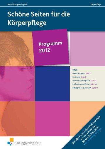 Schöne Seiten für die Körperpflege - Bildungsverlag EINS