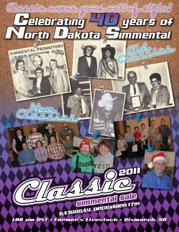 2011 NDSA ClASSiC SAlE - North Dakota Simmental Association