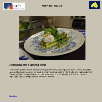 Asparagus and duck egg salad