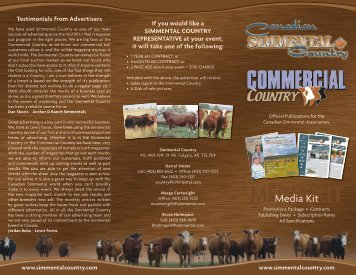 MEDIA KIT - Canadian Simmental Association