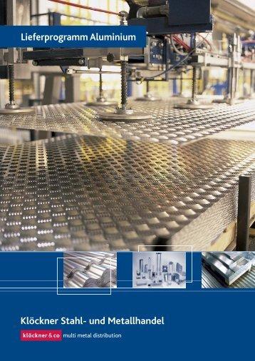 Aluminium Lieferprogramm - Klöckner Stahl