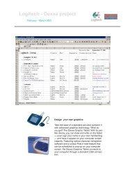 Logitech - Dexxa project - Hans van Hemmen - Portfolio