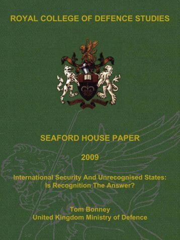 International security and unrecognised states - Defence Academy ...
