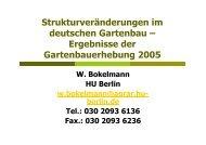 Strukturveränderungen im deutschen Gartenbau – Ergebnisse der ...