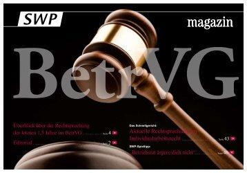Überblick über die Rechtsprechung der letzten 1,5 Jahre im BetrVG