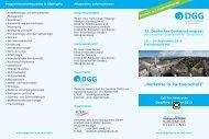 Informationen - Deutsche Gesellschaft für Gerontologie und Geriatrie