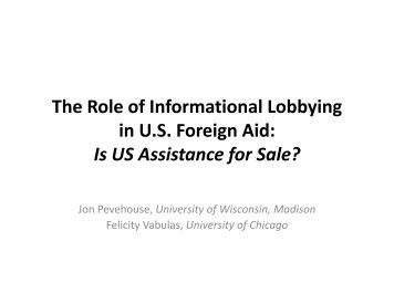 The Role of Informational Lobbying in U.S. Foreign Aid: Is US ...