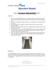 SLUDGE THICKENER - Operation Manual - Stone Food Machinery