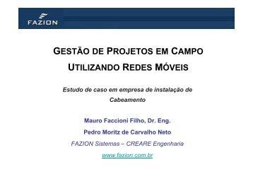 gestão de projetos em campo utilizando redes móveis - Fazion