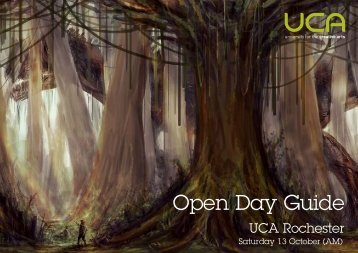 Open Day Guide - University for the Creative Arts