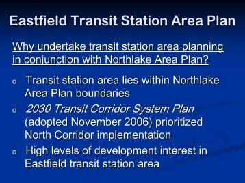 Eastfield Transit Station Area Plan