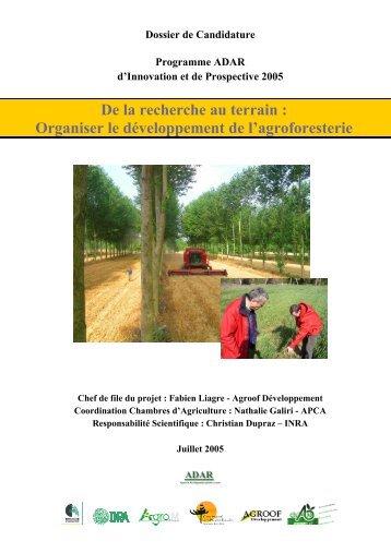 En savoir plus sur le projet ADAR - INRA Montpellier