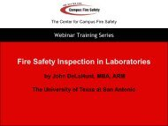 Fire Safety Inspection in Laboratories - Center for Campus Fire Safety
