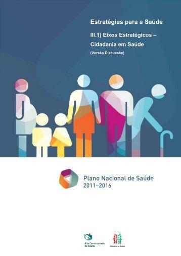 Cidadania em Saúde - Plano Nacional de Saúde 2012 – 2016