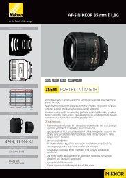 AF-S NIKKOR 85 mm f/1,8G PORTRÉTNÍ MISTR JSEM - Nikon