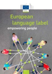 European language label empowering people