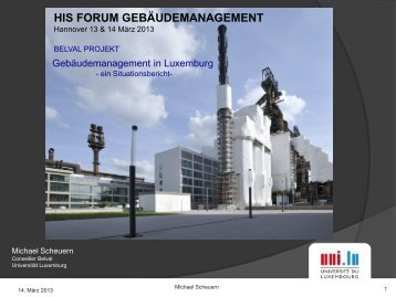 Gebäudemanagement in Luxemburg - HIS-HE