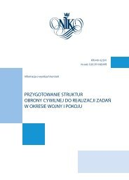 informacje szczegółowe (plik PDF) - Najwyższa Izba Kontroli