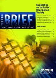 October / November 2004 - CSIR