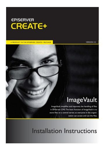 installation instructions for ImageVault 3.2.2 - EPiServer