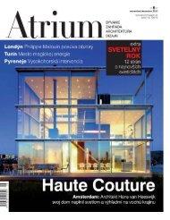 Atrium Magazin #6, nov/dec 2012, Slovakia Haute Couture ...