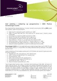 KONCERNREGNSKAB FOR 2009 - Novozymes