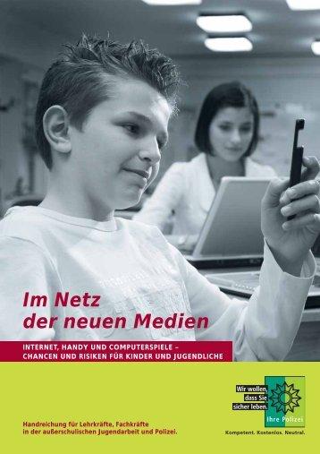 """Broschüre """"Im Netz der neuen Medien"""" - Saarland"""