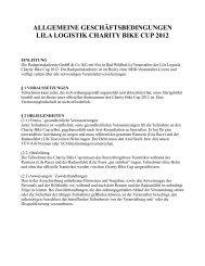 allgemeine geschäftsbedingungen lila logistik charity bike cup 2012