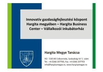 Hargita Business Center - Hargita Megye Tanácsa