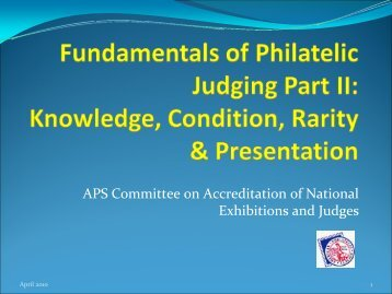 Part II - Knowledge, Condition, Rarity & Presentation