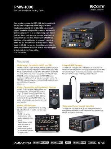 PMW-1000 - VideoCorp