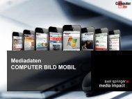 Mediadaten COMPUTER BILD MOBIL - Axel Springer MediaPilot