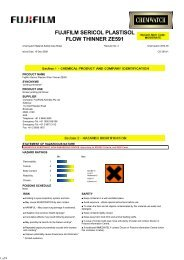 fujifilm sericol plastisol flow thinner ze591 - FUJIFILM Australia