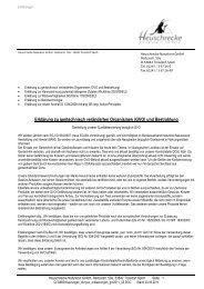Erklärungen zu GVO, Bestrahlung, neue AromaVO