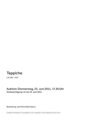 Teppiche - Koller Auktionen
