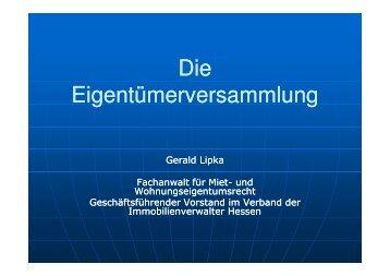 Die Eigentümerversammlung - Verband der Immobilienverwalter ...