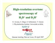 High-resolution overtone spectroscopy of H D+ and D H+