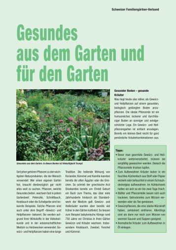 Gesundes aus dem  Garten und für den Garten