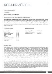 Happy end für Anker-Kinder - Koller Auktionen
