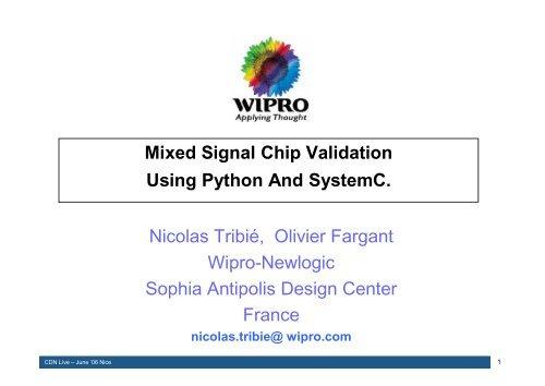 Mixed Signal Chip Validation Using Python And SystemC  Nicolas