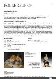 rare, unusual, sought-after: swiss art, the richard ... - Koller Auktionen