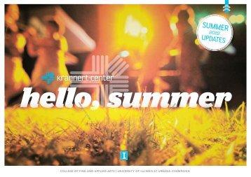 Summer at Krannert Center 2012 - Krannert Center for the ...