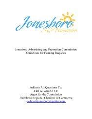 Jonesboro Advertising and Promotion ... - City of Jonesboro
